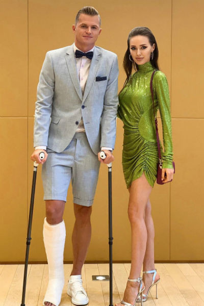 Дмитрий Тарасов и Анастасия Костенко в платье, которое никому не понравилось