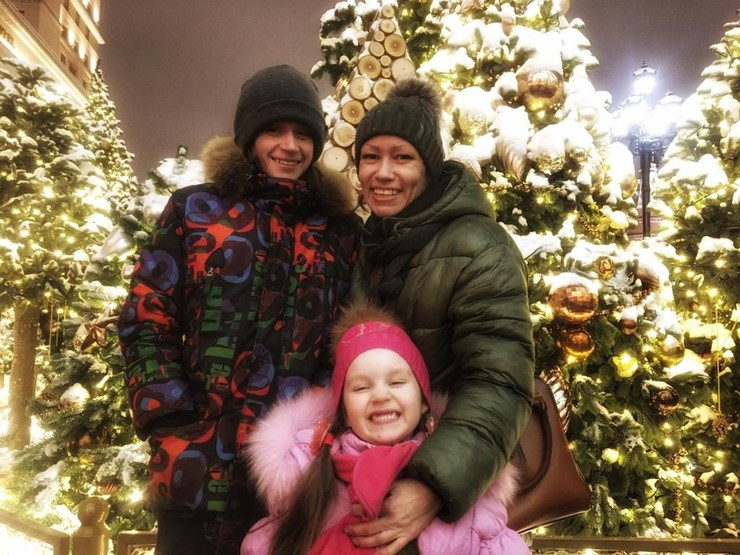 Жена и дети Дмитрия Гусева
