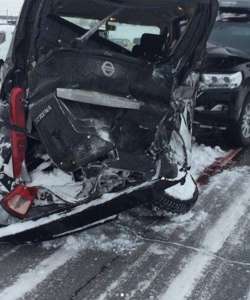 Тот самый Nissan, в который врезалась машина Насти