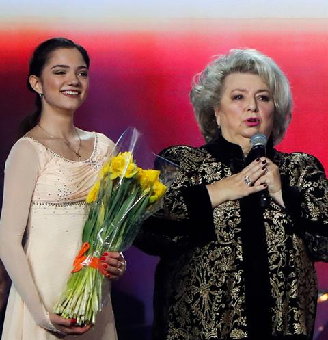 Евгения Медведева и Татьяна Тарасова