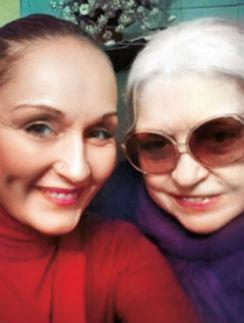 Лидия Федосеева-Шукшина с дочерью Ольгой Шукшиной