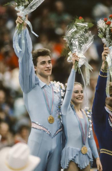 Пара выигрывала золотые медали Олимпийских игр