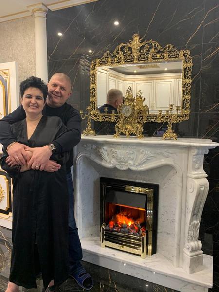Елена Голунова с мужем