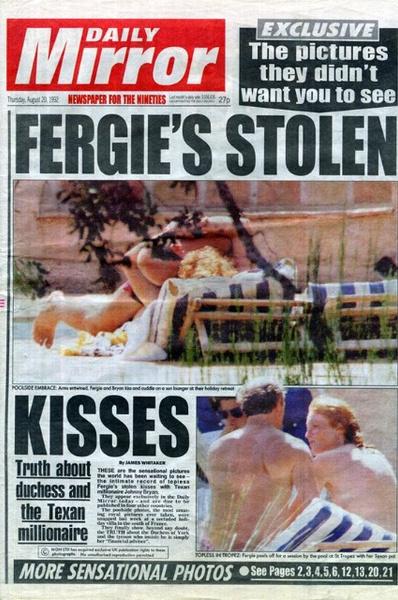 После того, как откровенные фото Сары появились в прессе, развод стал неизбежным
