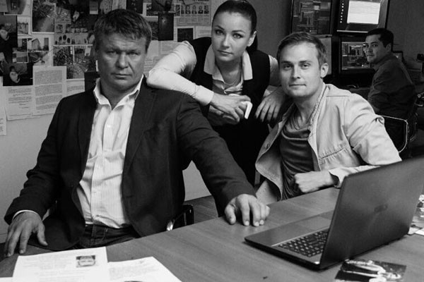 Олег Тактаров во время работы над фильмом «Мертв на 99%»