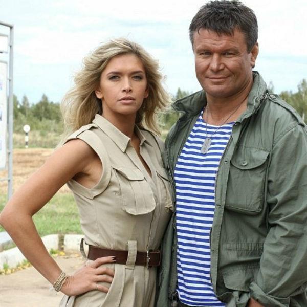 Олег Тактаров и Вера Брежнева на съемках