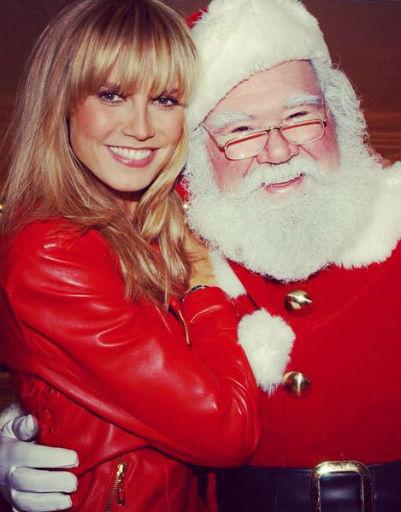 Модель Хайди Клум встретилась с Санта-Клаусом