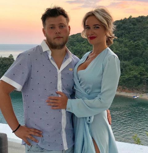 Елена Бушина с мужем Дмитрием Железняком
