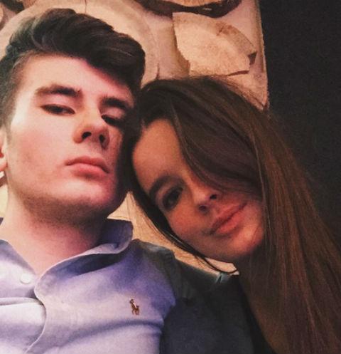 Александра Стриженова и ее бойфренд Антон