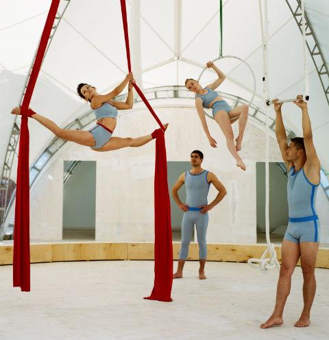 Мероприятие приурочено к открытию первой в России трапеции и школы воздушной гимнастики «Трапеция Yota – школа и шоу».