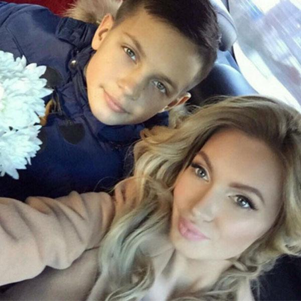 Евгения Феофилактова с любимым племянником и крестником Вадимом