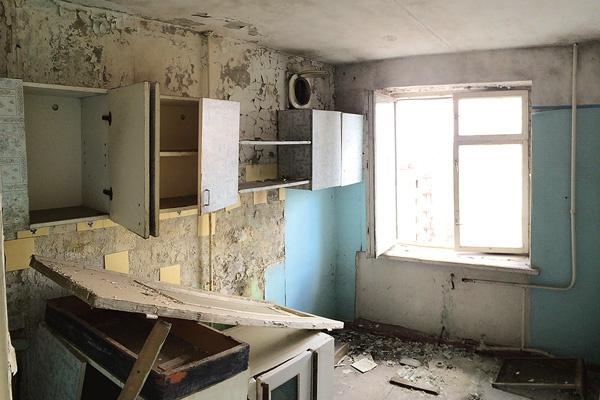 Квартиры в Припяти разграблены мародерами