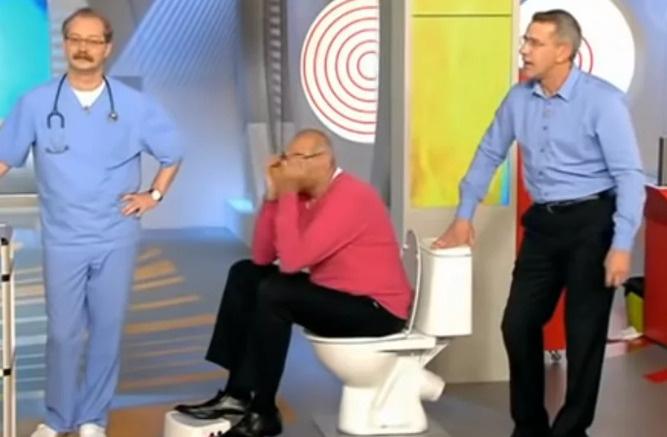 Герман Шаевич знает, как надо правильно сидеть на унитазе