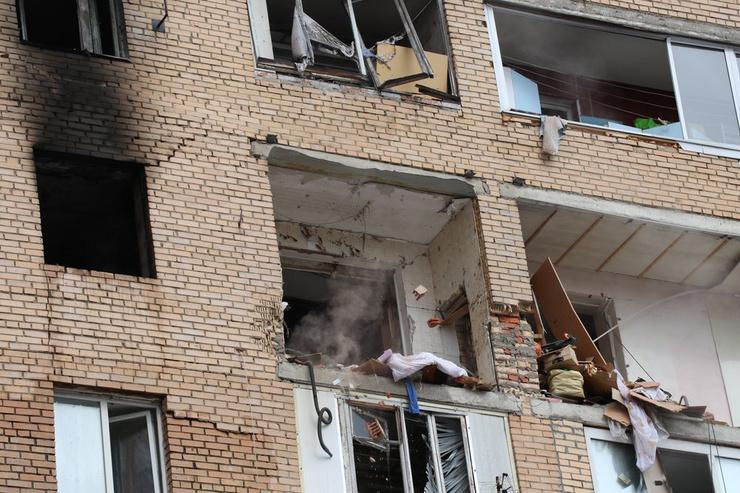 В доме произошел взрыв