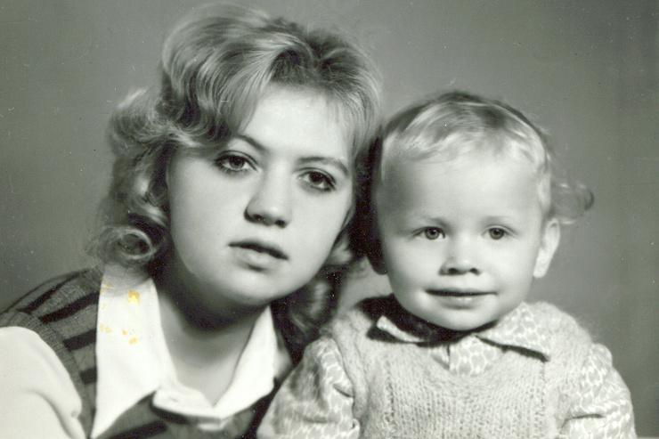 Михаил Трухин c мамой