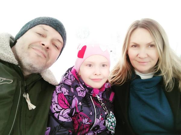 Валентина Смирнова с бывшим мужем и дочерью Маргаритой