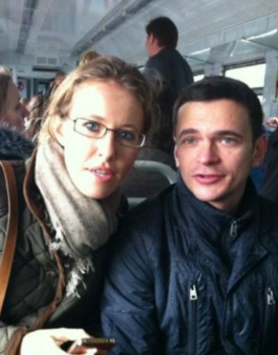 Ксения Собчак и Илья Яшин в электричке