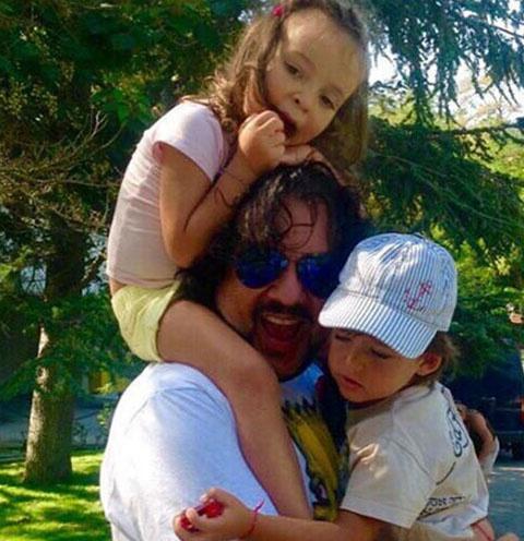 Филипп Киркоров с дочкой и сыном