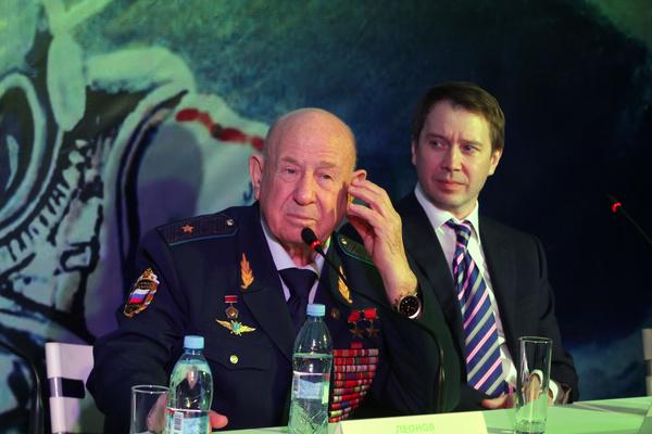 Алексей Леонов и Евгений Миронов