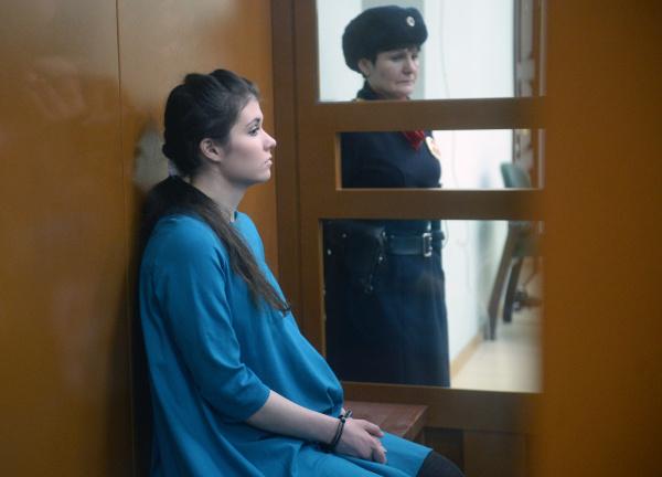 Варвара Караулова на оглашении приговора
