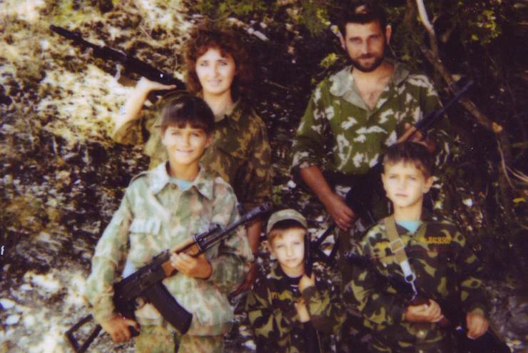 Елена и ее муж Андрей Швачев несли военно-медицинскую службу