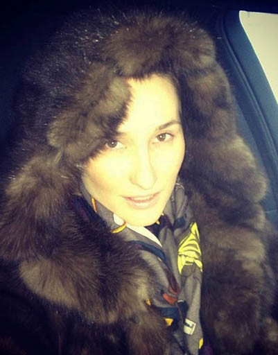 Анастасия Винокур в шикарной шубе из соболя