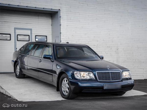 продаже Mercedes-Benz S-класса Pullman синего цвета продали за 34 миллиона рублей