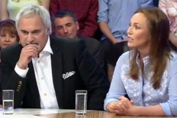 Альбина Джанабаева и Валерий Меладзе на передаче «Сегодня вечером»