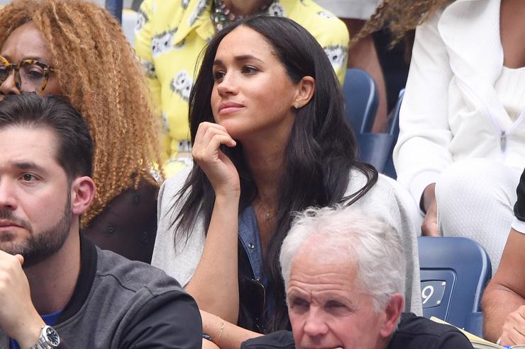 Во время визита в Нью-Йорк Меган посетила турнир по теннису US Open