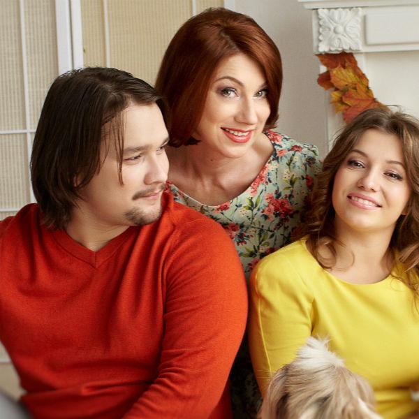 Роза вместе с Денисом и Ксения