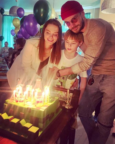 Недавно Елизавета и Максим устроили сыну праздник на день рождения