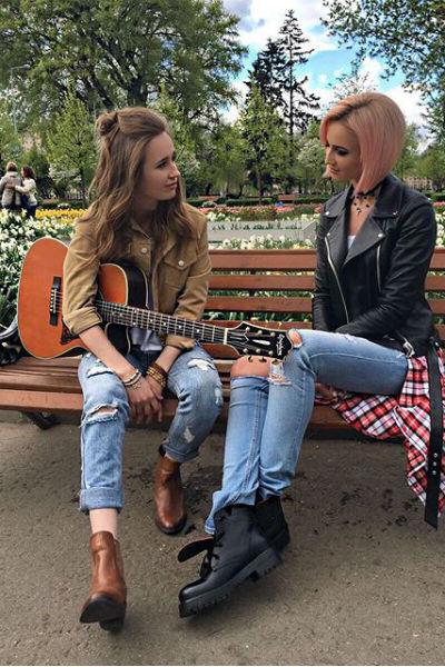 Ольга Бузова и Клава Кока на съемках клипа