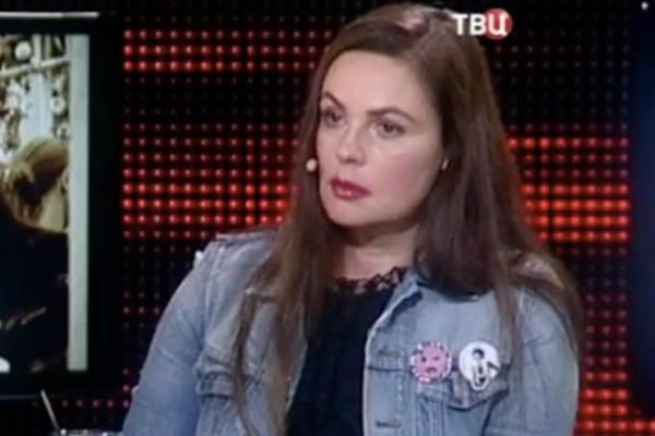 Екатерина Андреева во время записи программы