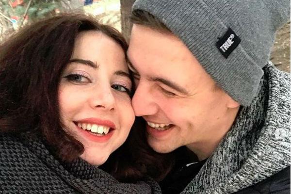 Олеся Лисовская с мужем