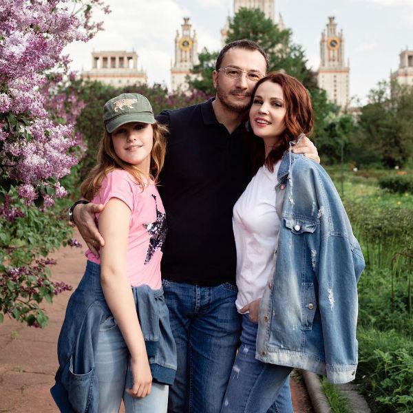Екатерина Вуличенко с семьей