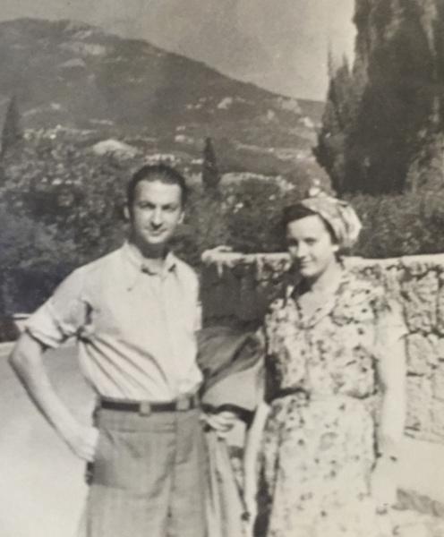 Вицин с женой Тамарой