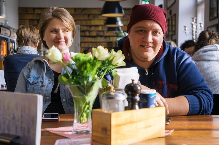 Роман Попов с супругой