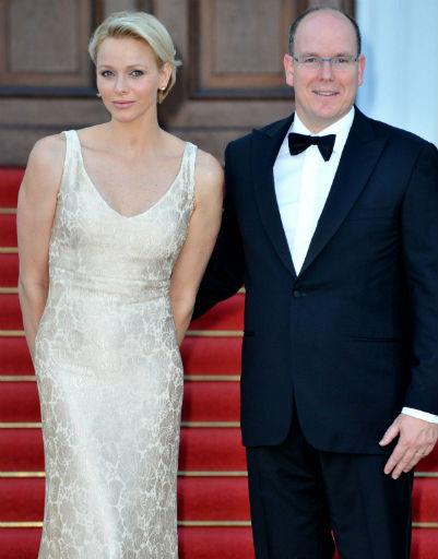 Принц Монако Альберт и его жена принцесса Шарлен