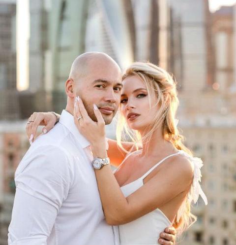 Андрей Черкасов с женой