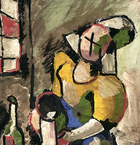 Вермеер. «Молочница». 73х54 см. Бумага, гуашь. 1981