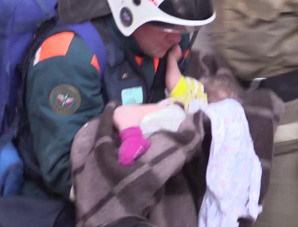 Малыш получил обморожение и другие травмы