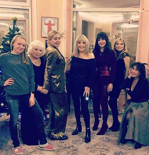 Алла Пугачева и Арина Шарапова на домашней вечеринке