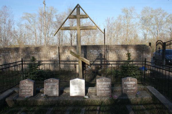 Могила семьи Володичкиных находится на Алексеевском кладбище