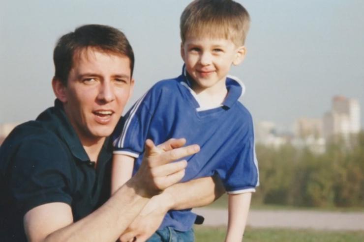 Алексей Мамонтов с сыном Артемом