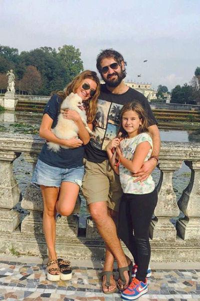 Жанна, Василий и Лолита, дочь телеведущей от Алана Бадоева