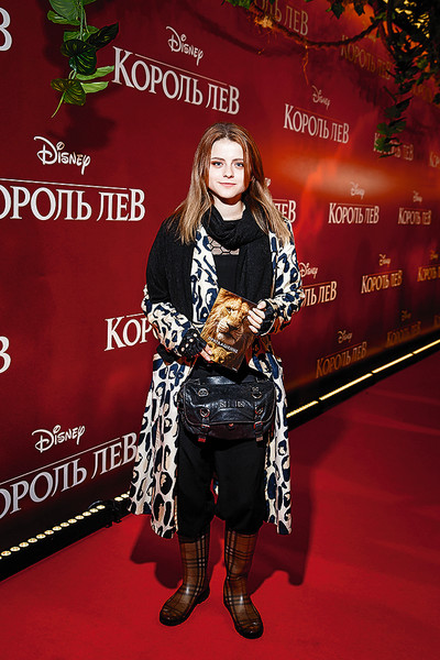 Актриса на премьере фильма «Король Лев», Москва