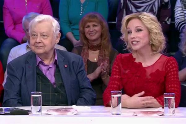 Олег Табаков и Марина Зудина на программе Андрея Малахова «Сегодня вечером»
