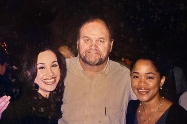 Меган с родителями