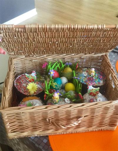 Мария Погребняк тоже освятила пасхальные куличи и яйца