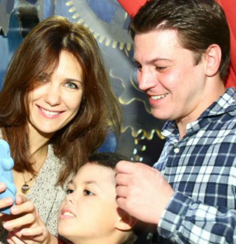 Екатерина Климова с мужем Гелой Месхи и сыном Матвеем